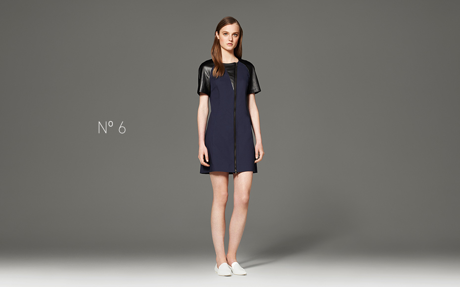 Black and Navy Faux Leather Dress, $49.99