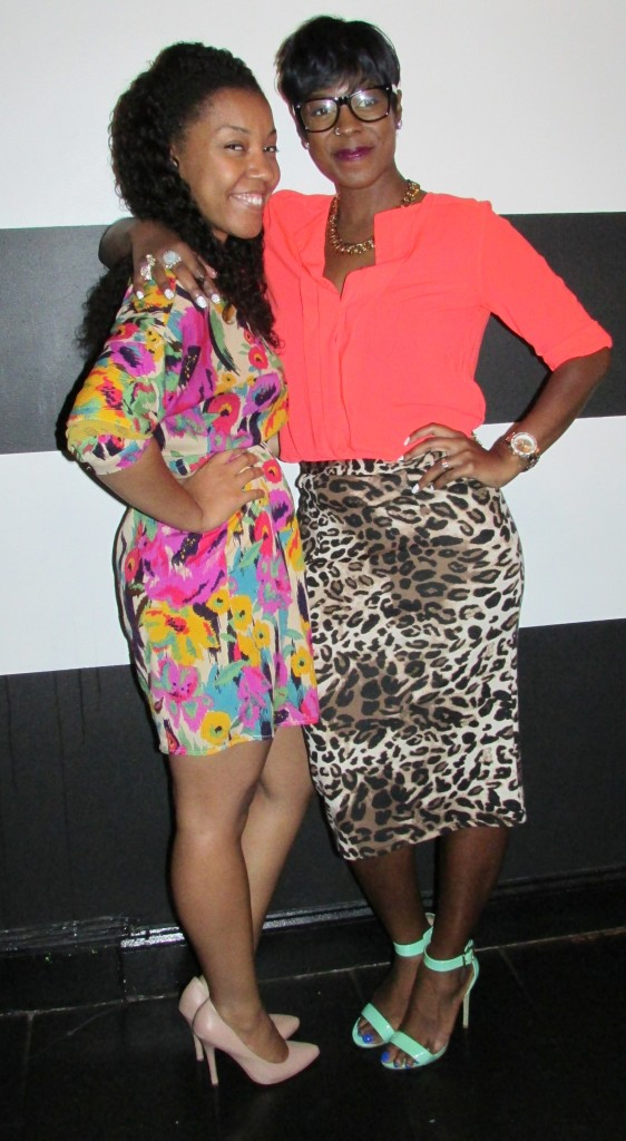 Kim and Tabriah rocking prints and color (Stamp!)