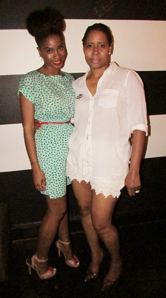 Editor in Chief of Facon Magazine, Janice Susan Wallace beautiful in all white, and myself