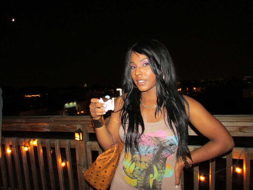 I found this beautiful sight on the rooftop..singer/songwriter Janeen
