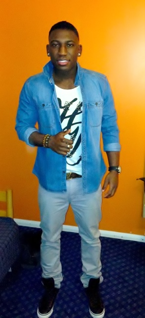 Tommy Hilfiger Denim Shirt/ Zara Tee/ LV Monogram Belt/ Armani Jeans/ Hublot watch
