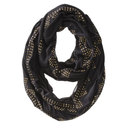 Target Mossimo Studded Infinity scarf in black...it's like a party on your neck!