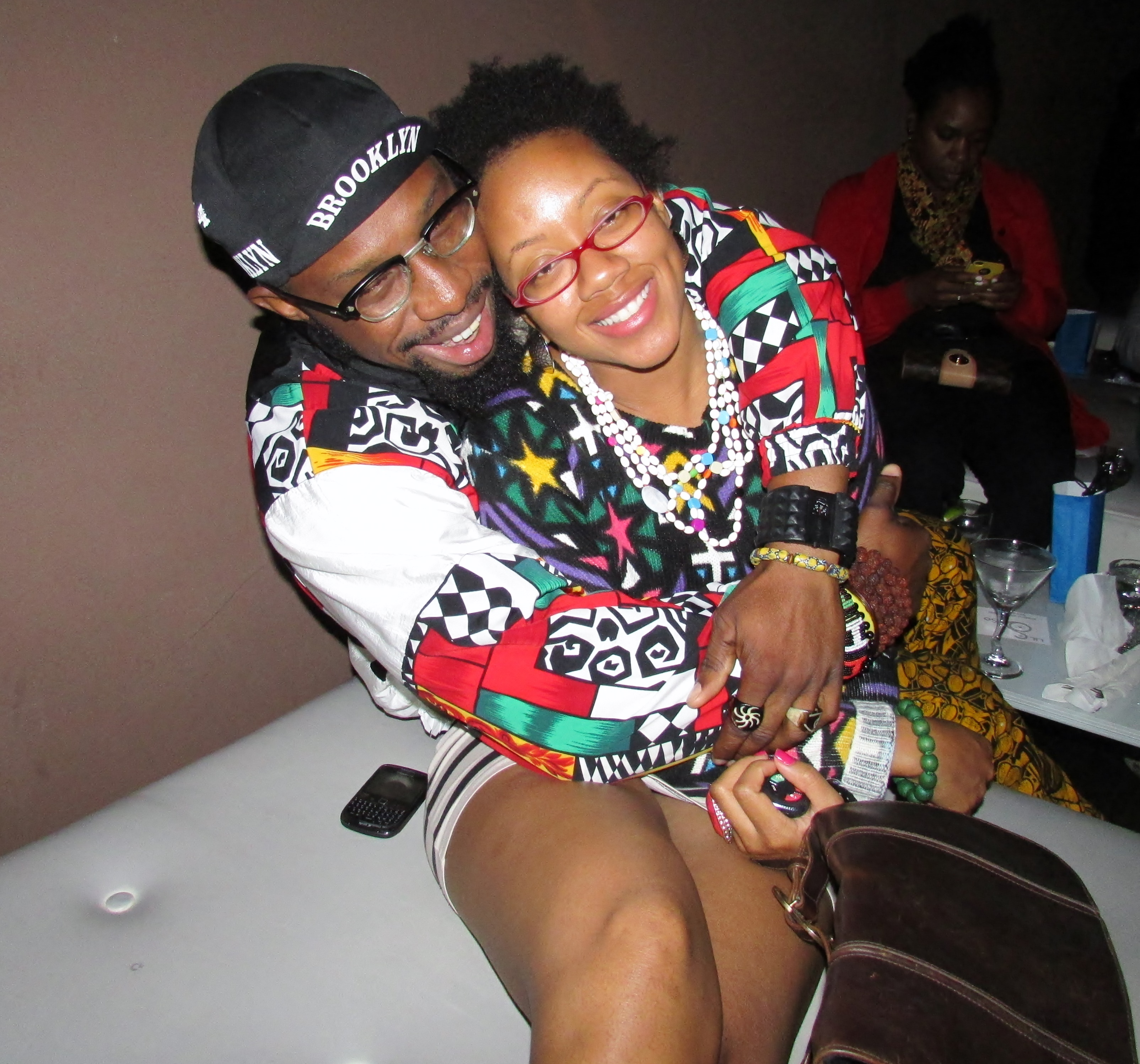 This couple was giving life to the place in their colors and patterns. They looked perfect together in their eclectic aura. Fashion!