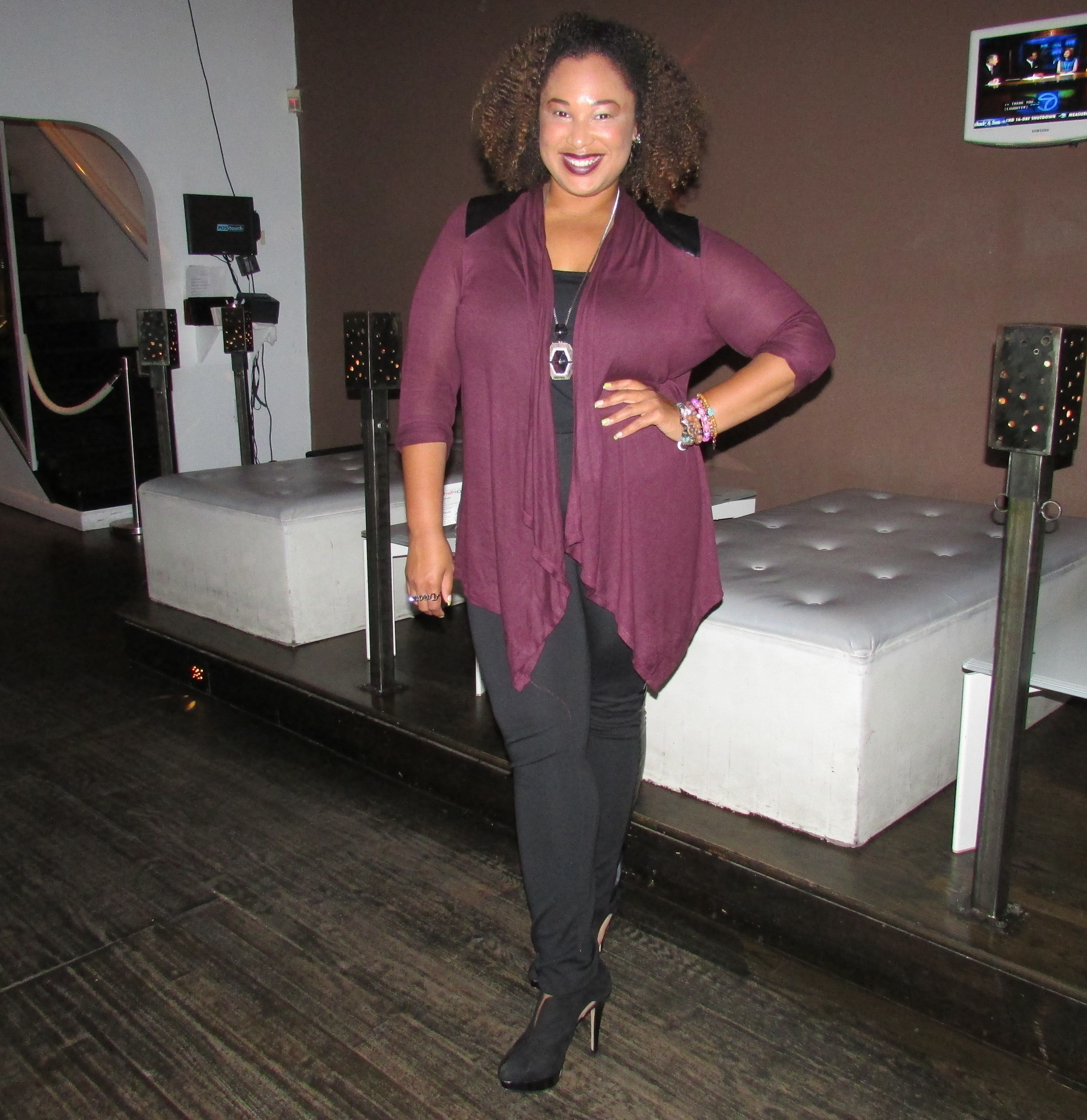 Miss Candice Nicole of Candice Nicole PR in one of fall's finest colors, vamp!