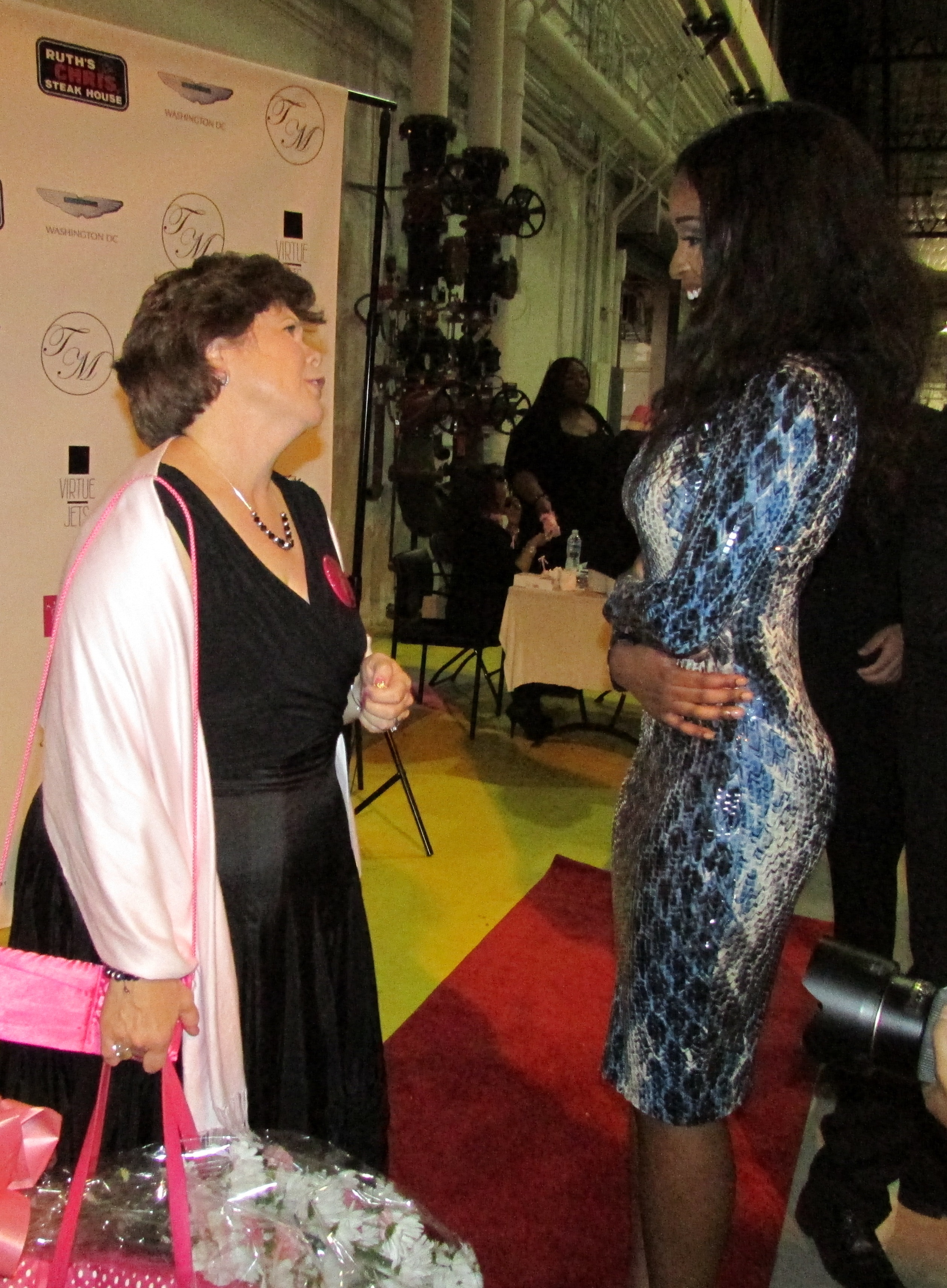 The special guest Avon speaker and the designer, TaLisa Michelle