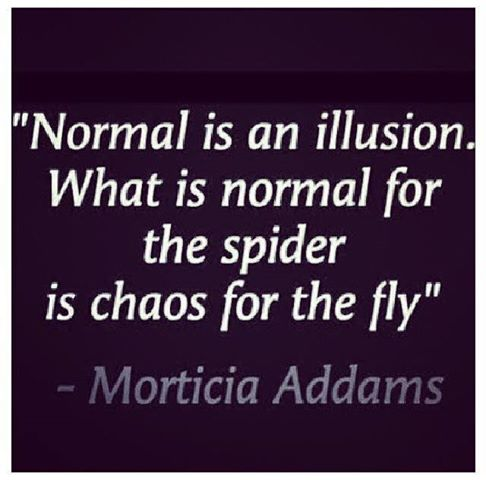 Normal is relative; it's not universal.