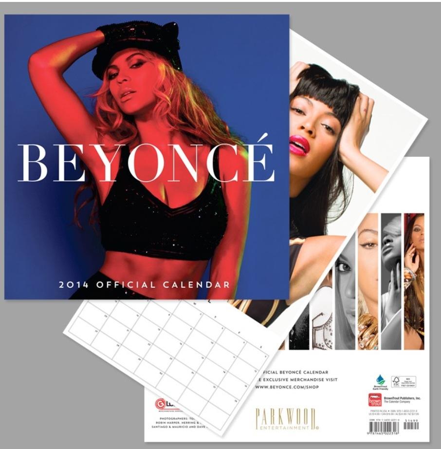 BEYONCÉ Official 2014 Calendar (Photo Beyonce.com)