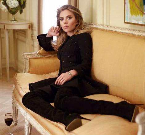Scarlett Johansson went elegant/sultry with her Balmain OTK's in Vanity Fair France