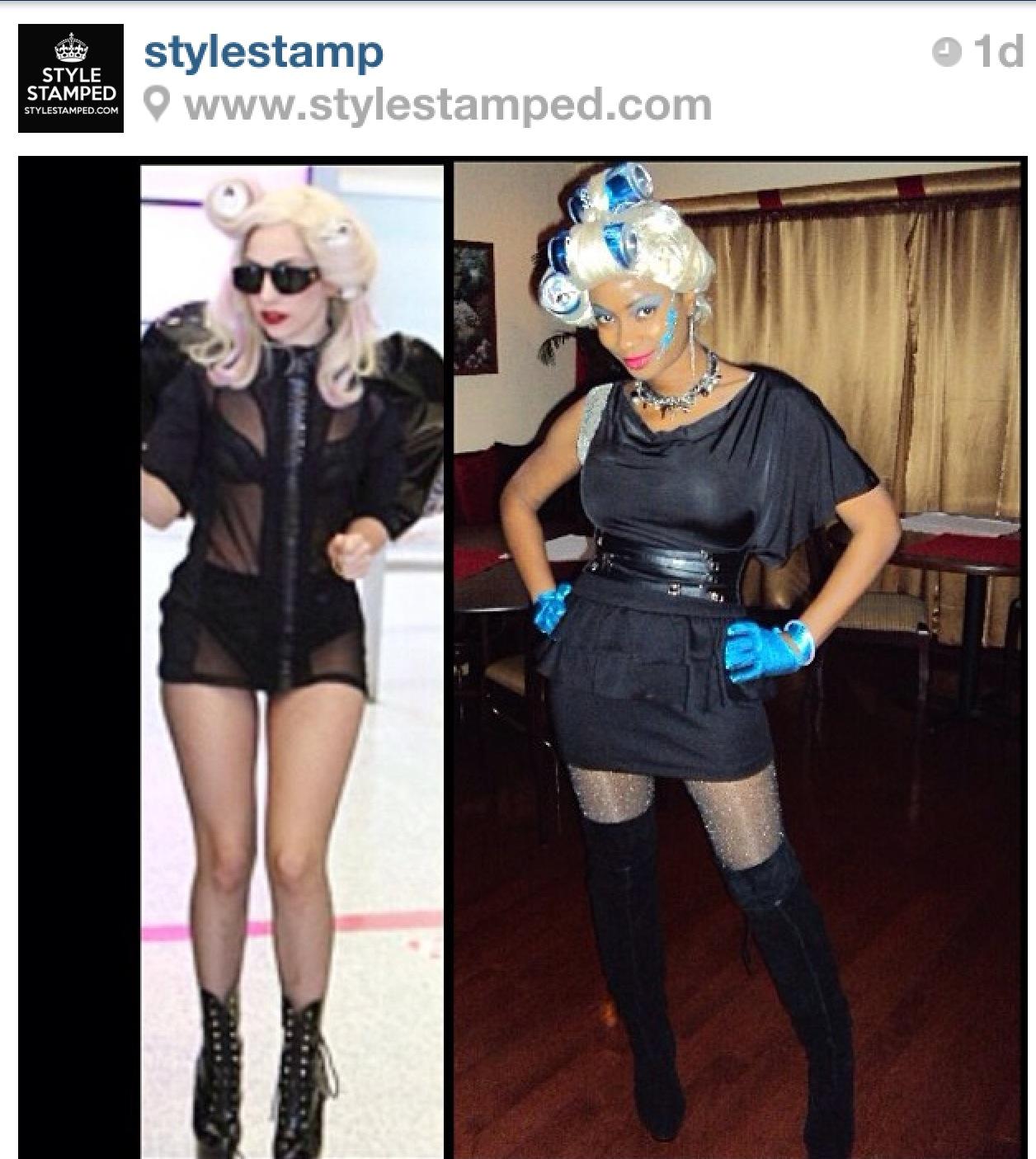 "Yana B. as ""Telephone"" Lady Gaga"