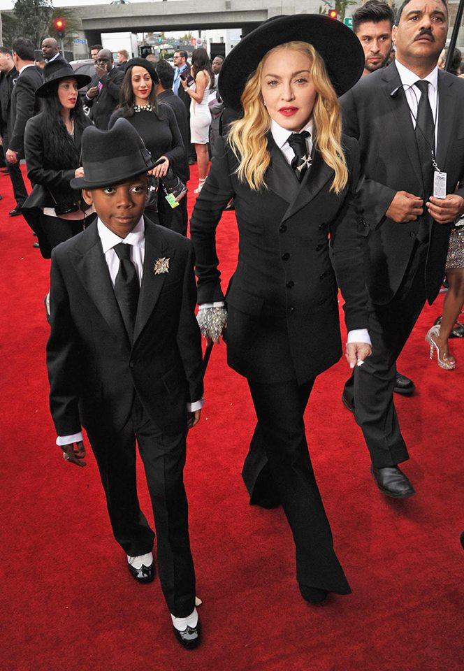 Madonna in Ralph Lauren with son David
