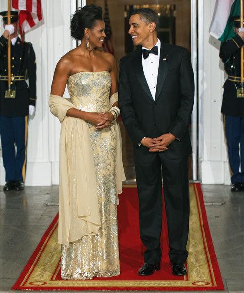 Michelle Obama in Naeem Khan