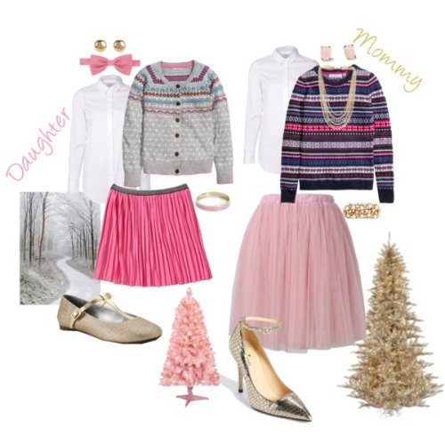 Tumblr-Style-Stamped-Christmas-Looks-2014-Mommy-Daughter